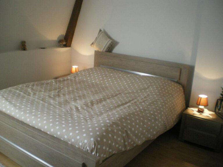 Gîte Honfleur Chez Lisette lit moderne