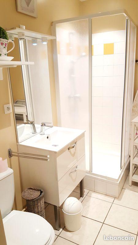 Salle de bain cottage gîte honfleur